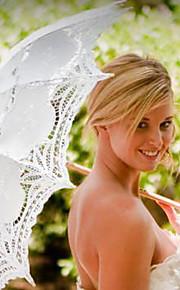 מטריות חתונה ( תחרה/רקמה ) - מתכת/עץ - תחרה