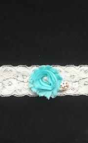 Garter Lace Flower/Imitation Pearl Ivory
