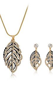 Conjunto de joyas Zirconia Cúbica Aleación De mujeres