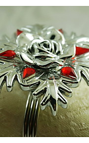 acrílico anillo de la decoración del copo de nieve servilleta, acrílico, 1.77inch, juego de 12