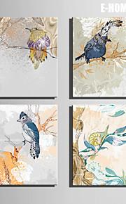 전자 home® 4의 나무 장식 그림 세트 캔버스 아트 새를 뻗어