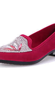 Women's Shoes Fabric Flat Heel Platform/Comfort/Round Toe/ Flats Outdoor/Office & Career/Casual Black/Blue/Red