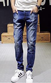 Pantaloni Uomo Casual Tinta unita Denim