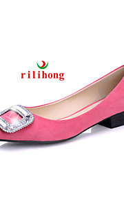 rilihong®Women's Shoes Flat Heel Comfort/Pointed Toe/Closed Toe Flats Casual Black/Green/Pink/Purple/Red/Burgundy