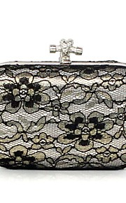 Handbag Matte Silk/Silk/Lace/Metal Evening Handbags/Clutches/Mini-Bags/Wallets & Accessories With Metal
