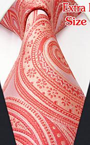 Men's Casual Paisley Baby pink Ties
