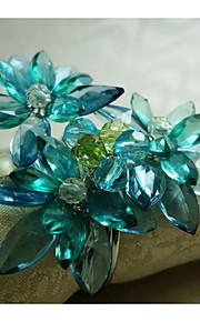 Acryl-Perlen Blumendekoration Serviettenring, Acryl, 1.77inch, Satz von 12