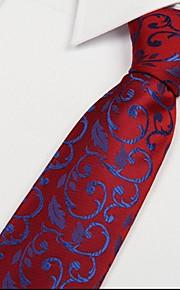 Red Wedding Ceremony Banquet Arrow Jacquard Necktie Tie