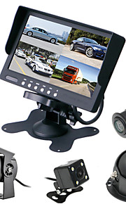 renepai® 7 inch 4 in1 hd-monitor + bus 170 ° hd auto achteruitrijcamera waterdichte camera kabellengte 6m, 10m, 16m, 20m,