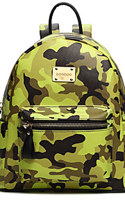 Handcee® Hot Selling Good Quality PU Woman Camouflage Color Backpack