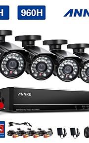annke 8ch 960H hdmi dvr 800tvl outdoor cctv binnenlandse veiligheid camera systeem hd