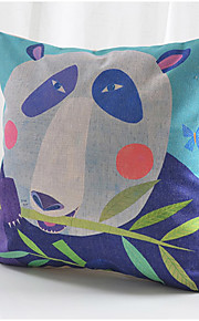 Colorful Panda Cotton/Linen Decorative Pillow Cover