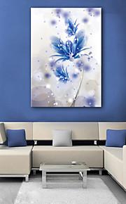e-Home® venytetty johtama kankaalle tulostaa art sininen kukka johti vilkkuva valokuitu print