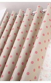 Two Panels European Contracted Fashion Design Dot Curtain Of The Bedroom Of Children Room