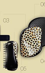 detangling børste tanglering leopard hår børste kombi (tilfeldig farge)