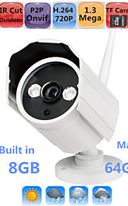 Waterdicht/Dag Nacht/Bewegingsdetectie/Dual Stream/Remote Access/IR-cut/Wifi Protected Setup/Plug and play - Outdoor Kogel - IP Camera