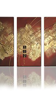 visuella star®hand målade abstrakt modern olje- målarduk tre paneler