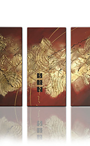 visueel-star®hand geschilderde abstracte moderne olieverf doek drie panelen