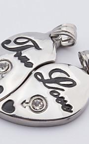 Collier Anniversaire/Mariage/Engagement/Cadeau/Sorée/Quotidien/Occasion spéciale/Casual/Bureau & Carrière Inox Amoureux/Femme