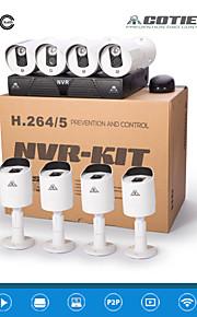 cotier® NVR-system 8-kanals hdmi 1u NVR 720p / 960p / 1080p / plug and play / IR cut / IP-kamera n8b3m / kit