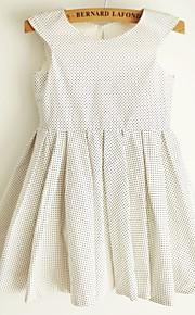 Vestido para Meninas das Flores - Princesa Coquetel Sem Mangas Algodão