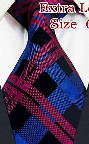 Men's Casual Checked Crimson Ties
