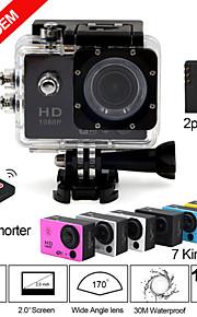 wiifi camera full hd 1080p 2.0inch wifi actie camera met 170degree groothoek lens 30m wateproof sport dv 2 accu