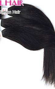 """1шт / много 8 """"-30"""" перуанский прямо девственные волосы утки натуральный черный 1b # человеческие волосы плести пучки запутывает свободно"""