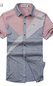 Camicia Uomo Casual Manica corta Corda