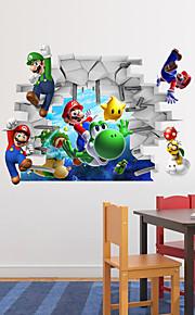 3d parede adesivos de parede adesivos de parede estilo de super mario adesivos pvc