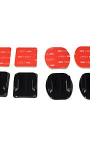 Kingma 2kpl tasainen gopro mount liima + 2 kaareva liima mount kit go pro sankarin 4 3 3+ 2 1