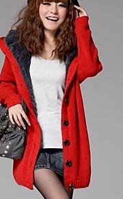 Maternity Long Coat , Casual/Work Long Sleeve Acrylic