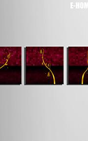 e-Home® venytetty kankaalle art kultainen oksat koriste maalaus sarja 3