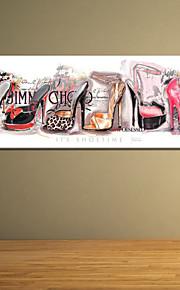 visuell star®modern färgrik hög klack väggkonst, pop sträckt arbetsytan utskrift