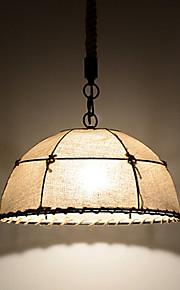 Lustre - Contemporain/Traditionnel/Classique/Rustique/Vintage/Rétro/Globe - avec Style mini/Ampoule incluse - Tissu