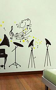 Cartoon Design / Musik / Romantik / Mode / Landschaft / Formen Wand-Sticker Flugzeug-Wand Sticker , PVC 70CM×50CM×0.1CM