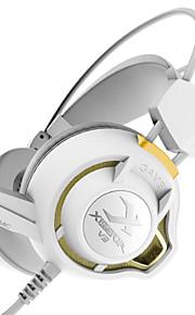 xiberia v3 gaming koptelefoon op ear LED verlichting stereo headset pc gamer computer super bass gloed koptelefoon met microfoon