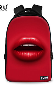 FOR U DESIGNS Unisex Sexy Lips Polyester Sports Laptop Backpacks
