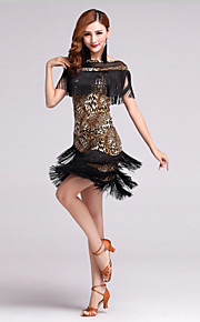 Latin Dance Outfits Women's Performance Polyester / Lycra Fashion Tassel(s) 2 Pieces