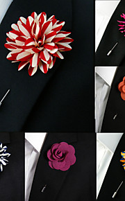 Silk Blend Lapel Flowers Handmade Boutonniere Stick Pin Men's Accessories