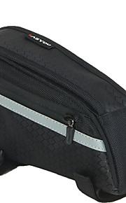 Bike Frame Bag - Vedenkestävä/Nopea kuivuminen/Heijastava raita/Kosteuden kestävä/Iskunkestävä/Kestävä/Monitoiminen ( Musta ,1680D