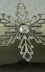 металл снежинка салфетка кольцо, железо, 1.77inch, набор 12