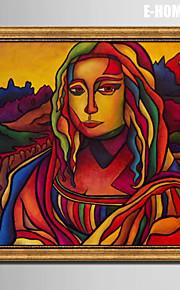 E-HOME® Framed Canvas Art,  Portrait of a woman Framed Canvas Print
