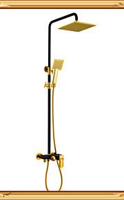 Robinet de douche - Décoration artistique/Rétro - Douche pluie / Douchette inclue - Laiton ( Bronze huilé )