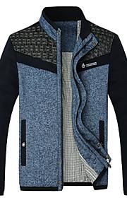 Jacke ( Blau/Grau , Baumwolle ) - für Freizeit - für MEN Lang