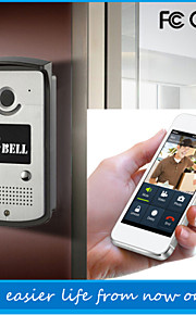 ATZ eBELL® WiFi Video Door Phone IR-Cut Intercom Doorbell 720P Remote Control Gsm Doorbell HD Video Doorbell Smartphone