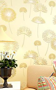 Floral Papier peint Contemporain Revêtement , Intissé 0.55mm