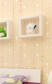 contemporaine papier peint art déco amour 3d perles de rideau peint revêtement mural art mural non-tissé de tissu