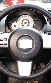 Xuji ™ zwart lederen stuurwiel hoes voor Mazda 2 2011-2014