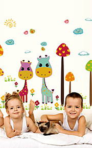 Wall Stickers Wall Decals Style Cartoon Deer PVC Wall Stickers
